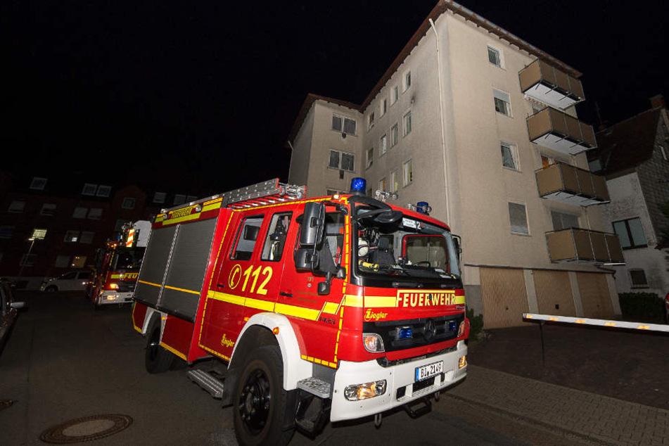 Die Feuerwehr rückte zu dem angeblichen Küchenbrand aus.