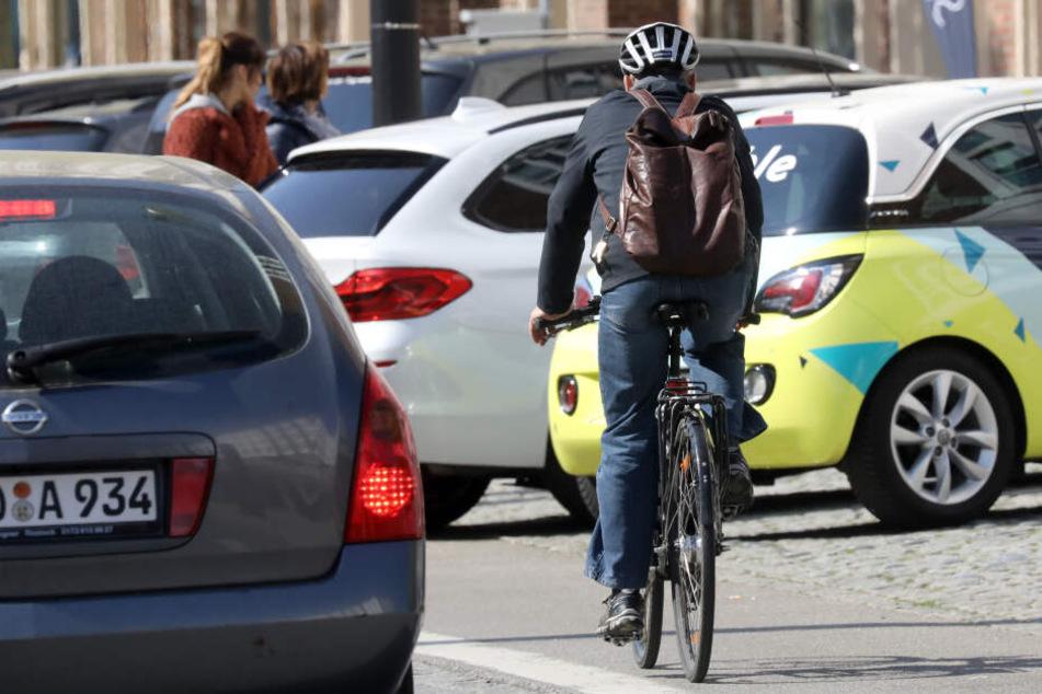 Besonders gefährdet: Radfahrer im Straßenverkehr.