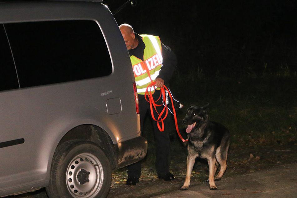 Ein Spürhund der Polizei kam zum Einsatz.