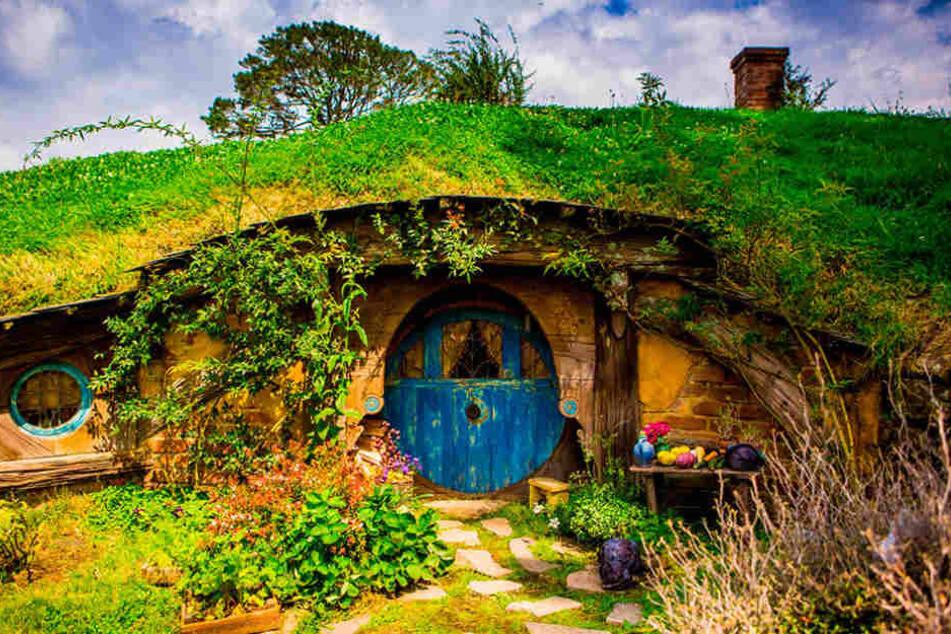 Der Original-Drehort der Hobbithäuser in Neuseeland ist inzwischen  ein Touristenmagnet.