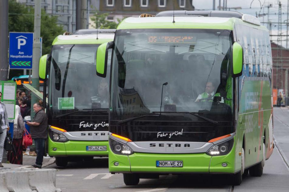 Aus den Städten nicht mehr wegzudenken: die grünen Flixbusse.