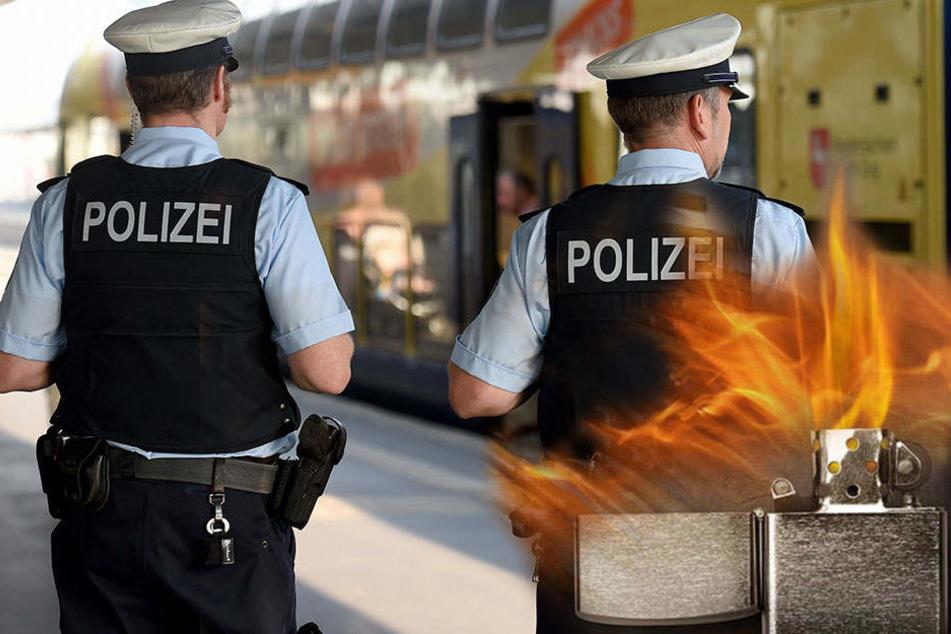 Erst beschimpfte der 21-Jährige die Polizisten, dann bewarf er sie mit seinem Handy und einem Feuerzeug, das explodierte. (Symbolbild)