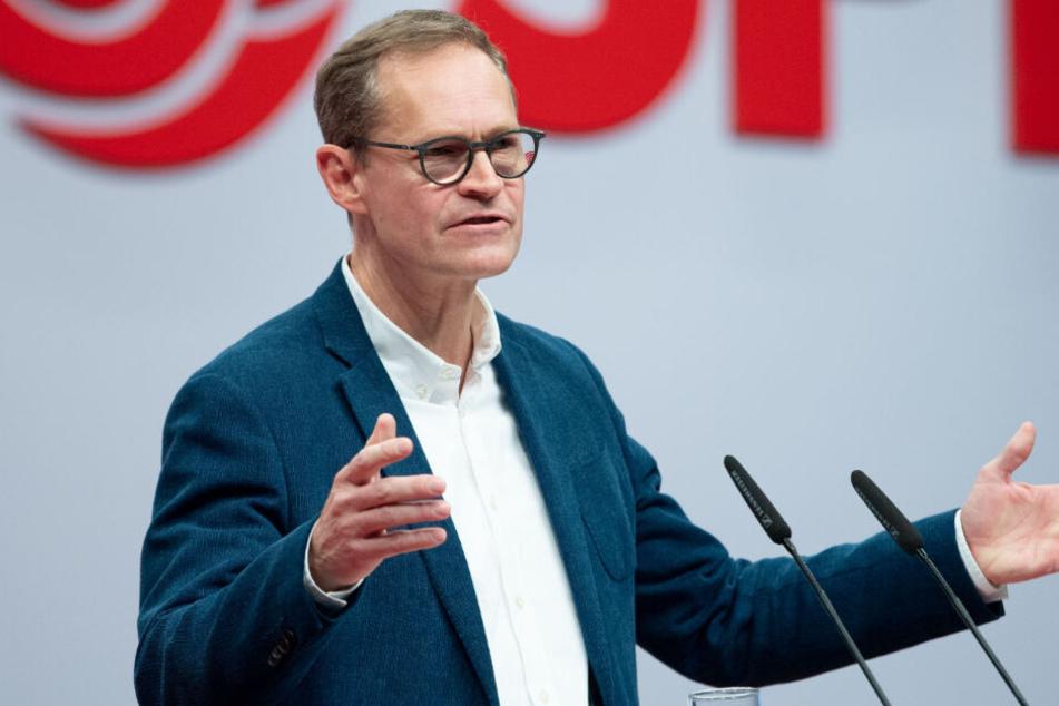 SPD setzt Bundesparteitag fort: Berliner Bürgermeister Müller fordert Mut zum Risiko