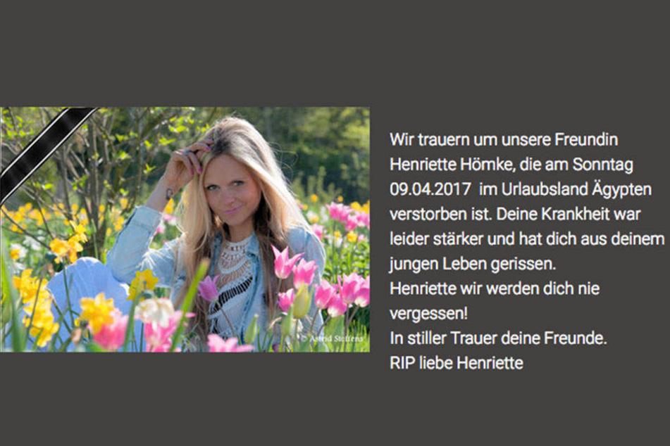 Auch die Fotofreunde Hartenstein trauern um Henriette.