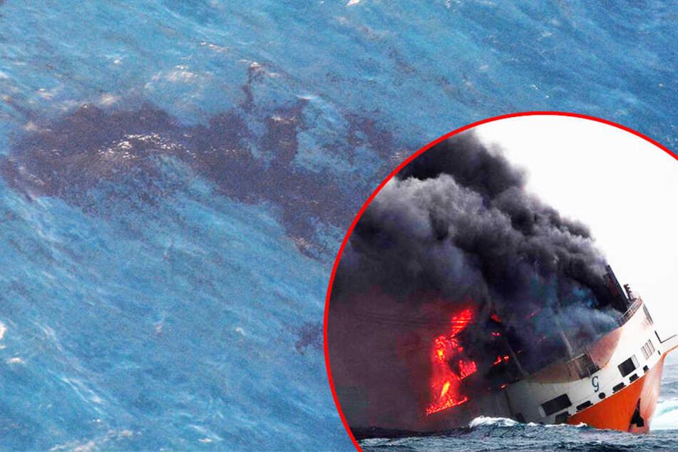 Nach Untergang eines Frachters vor Frankreich: Rund 2200 Tonnen Öl treiben noch immer im Meer!