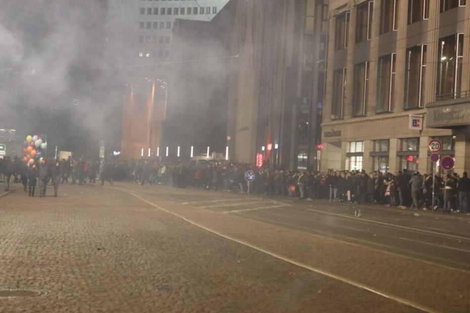 Am Augustusplatz ist es friedlich geblieben.