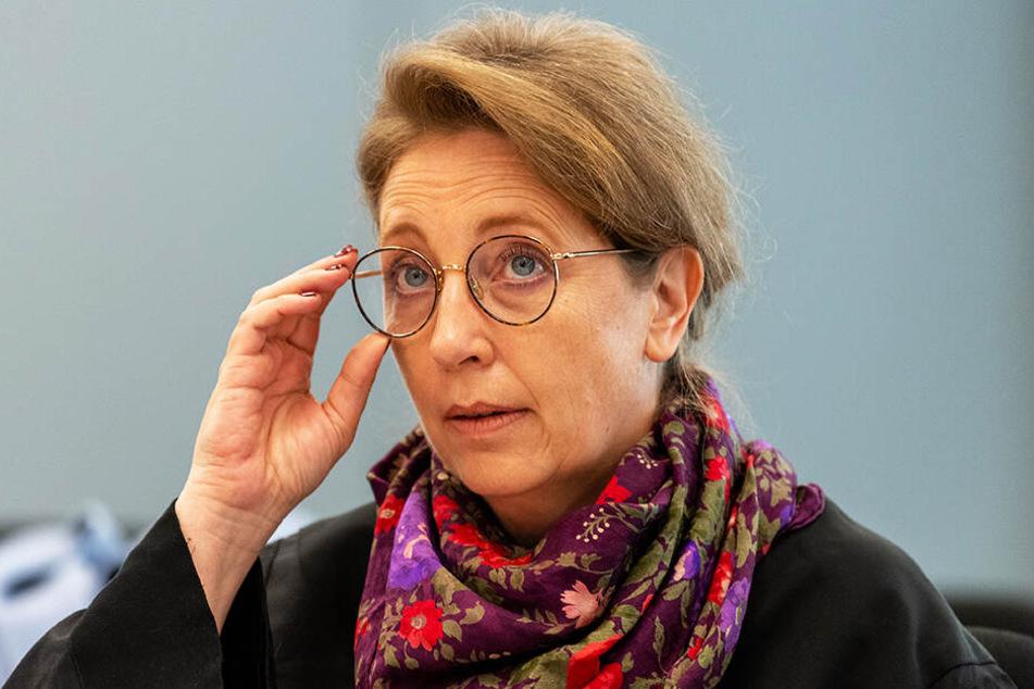 Ricarda Lang, Verteidigerin des Angeklagten, ist mit dem Urteil nicht zufrieden.