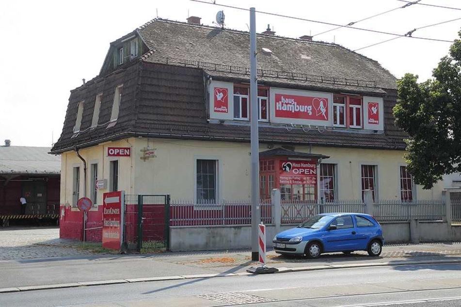 """Das """"Eros-Center"""" an der Hamburger Straße."""