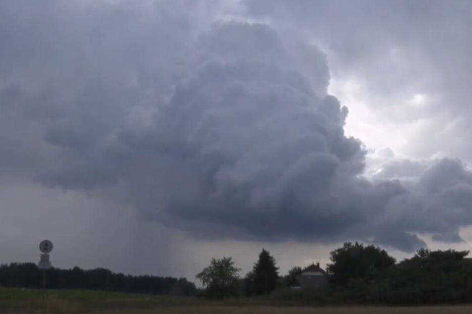 Die Unwetter zogen von Brandenburg nach Sachsen.