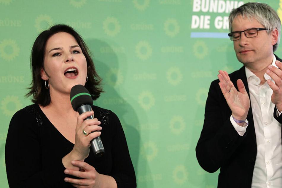 Die Grünen-Vorsitzende Anna Lena Baerbock (38, links) durfte bei den Wahlen einen Riesen Erfolg bejubeln.
