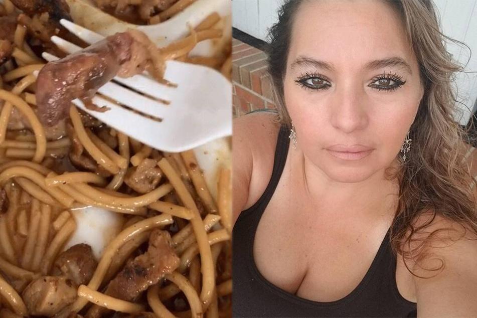 Ekel-Video: Restaurant-Besucherin macht widerlichen Fund in ihrem Essen
