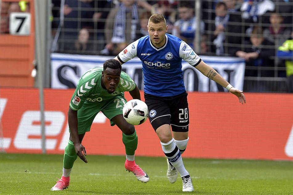 Der 23-Jährige kam zur Saison 2016/17 von Paderborn nach Bielefeld.