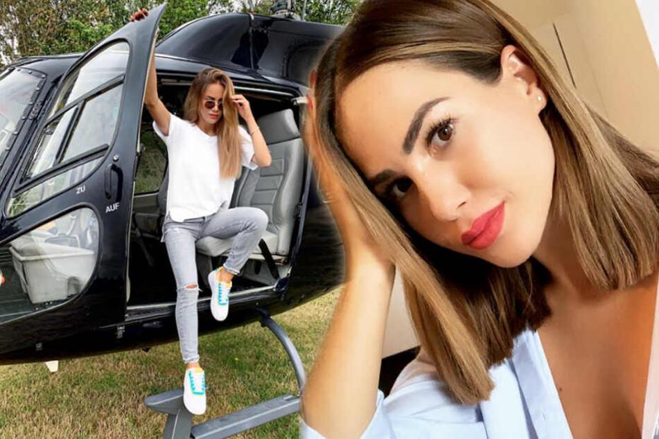 Angelina Heger führt ein Influencer-Leben: Nicht jedem gefällt das. (Bildmontage)