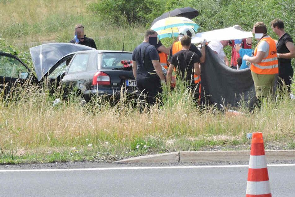 Die 18-jährige Alina starb nach einem schweren Unfall auf der B107n bei Grimma.