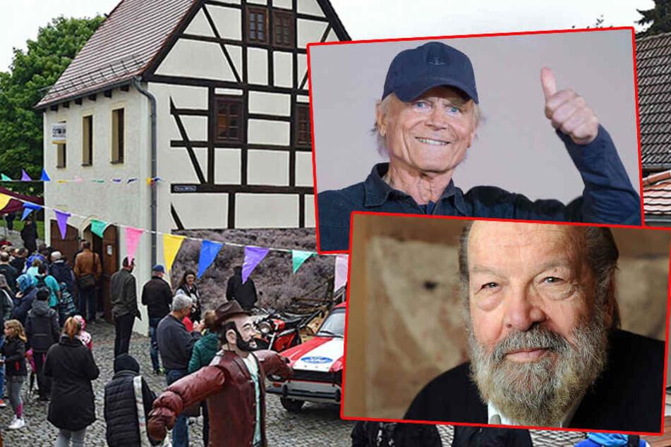 Terence Hill und Bud Spencer in Lommatzsch geehrt