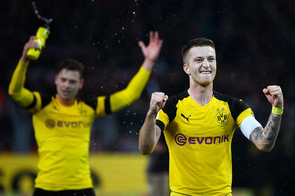 Führte den BVB mit einer weiteren überragenden Leistung zum Sieg: Dortmund Kapitän Marco Reus (r.). Im Hintergrund Teamkollege Lukasz Piczszek.