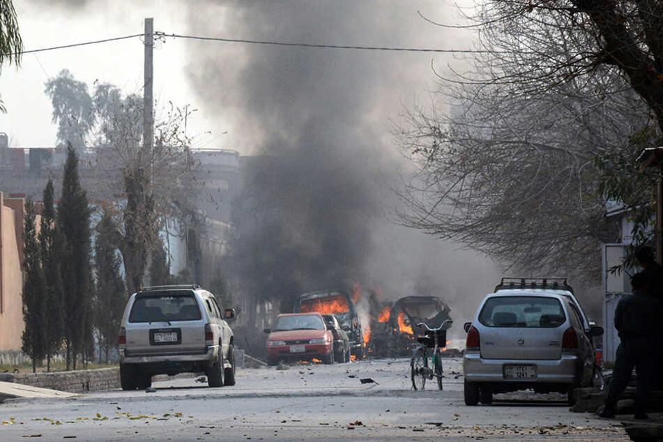 """Die Terrormiliz """"Islamischer Staat"""" bekannte sich zu dem Anschlag."""