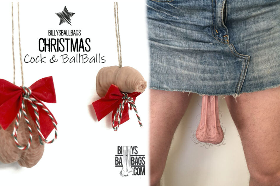 How about some ballsy Christmas ornaments or a set of dangling testicles?