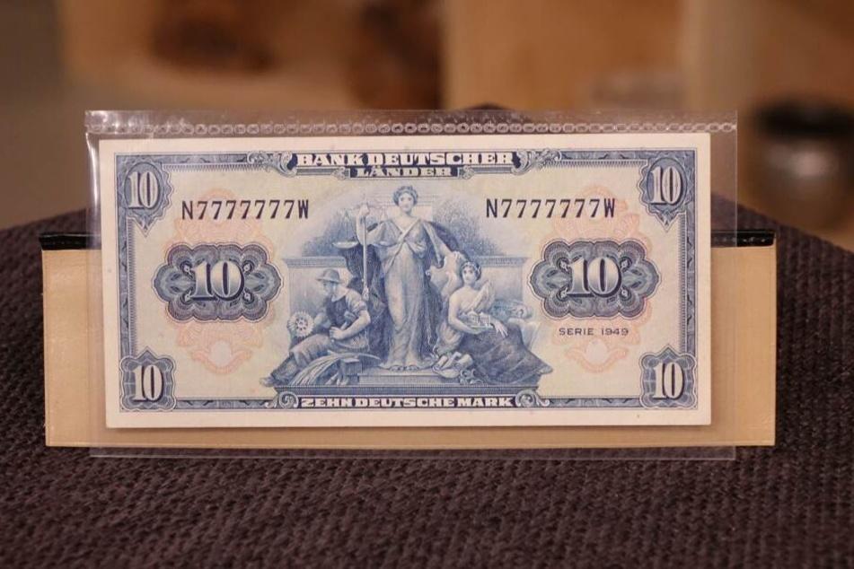 Der wertvolle 10-Mark-Schein aus den USA.