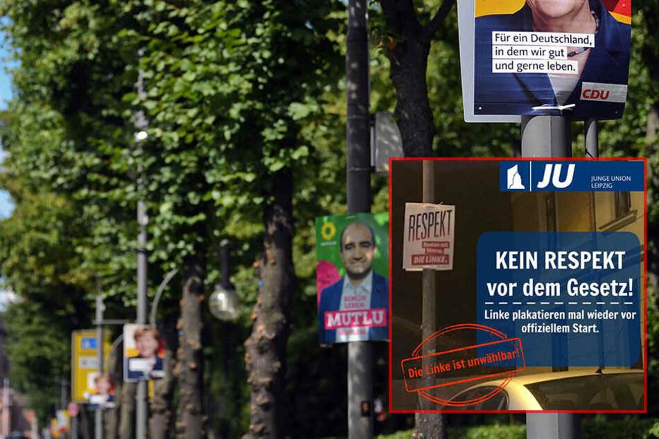 Rechtswidrige Plakate? Union geht auf Leipziger Linke los!