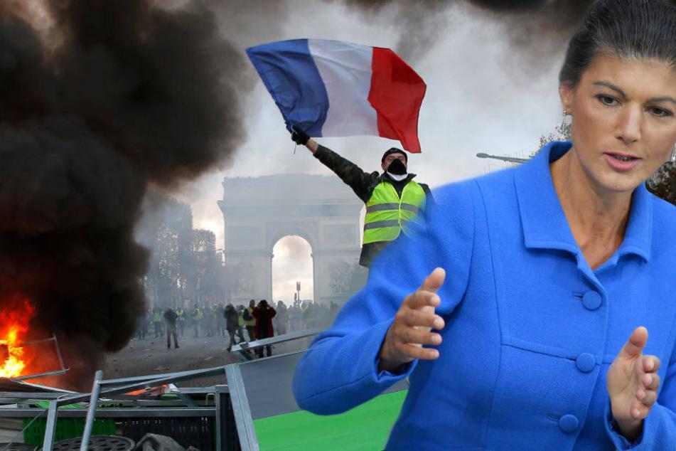 Vorbild für Deutschland? Wagenknecht lobt Frankreich-Proteste