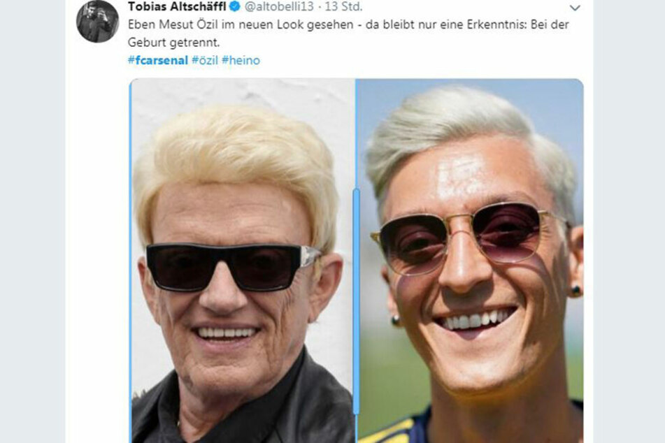 Tobias Altschäffel twitterte eine Collage mit Schlager-Star Heino und Özil.