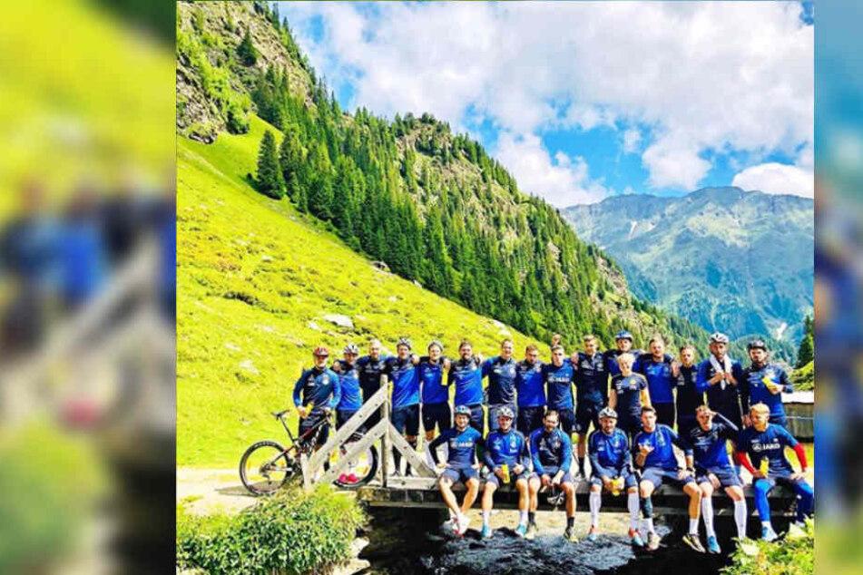 Die Kicker von Lok Leipzig kamen ganz schön aus der Puste in Südtirol.