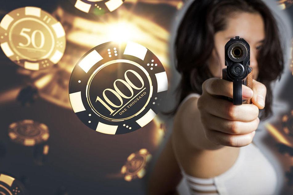 Frau überfällt Spielothek und droht mit Pistole