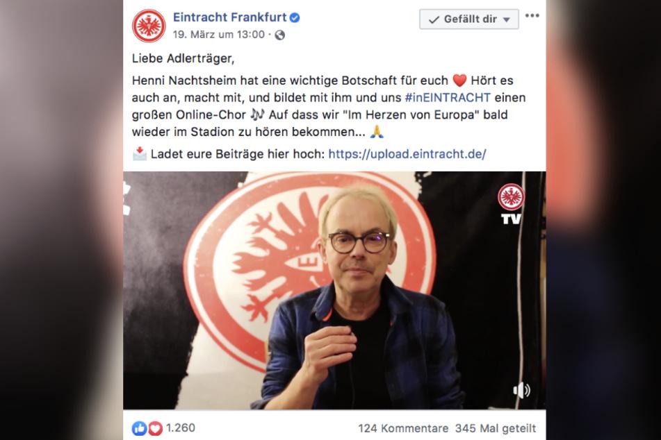 Comedian Henni Nachtsheim (62) ist ein großer Eintracht-Fan.