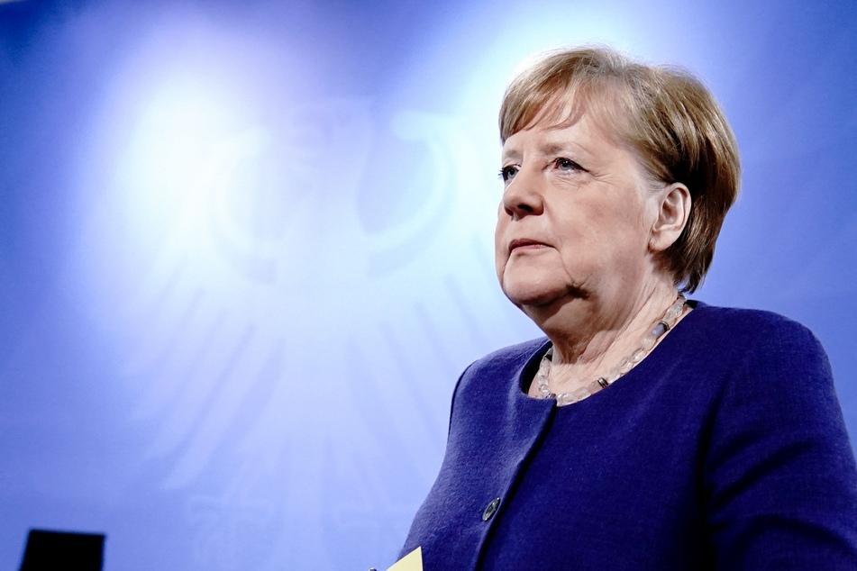 Bundeskanzlerin Angela Merkel bei einer Pressekonferenz Ende April in Berlin.
