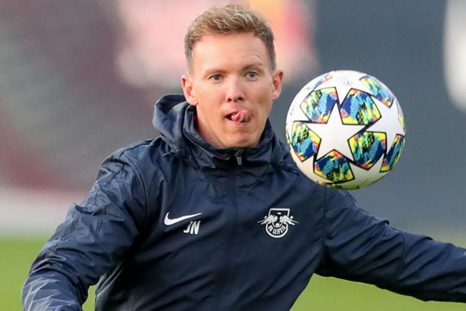 RB-Coach Julian Nagelsmann (32) setzt auf taktische Lösungen, um den Gegner Zenit St. Petersburg zu schlagen.