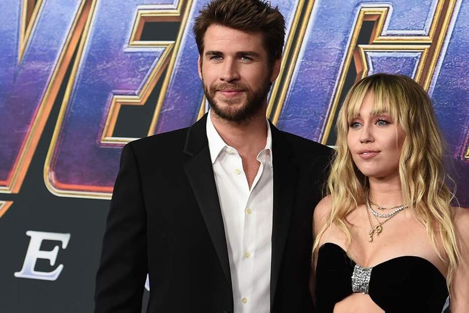 """Liam Hemsworth und Miley Cyrus bei Premiere von """"Avengers: Endgame"""" im Los Angeles Convention Center. (Archivbild)"""