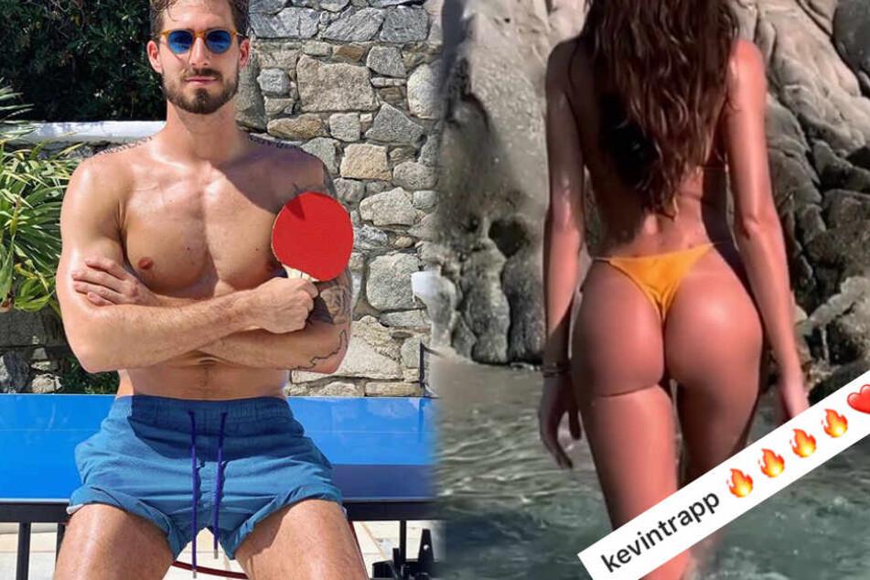 Zwei Screenshots aus den Instagram-Profilen von Isabel Goulart (l.) und Kevin Trapp.