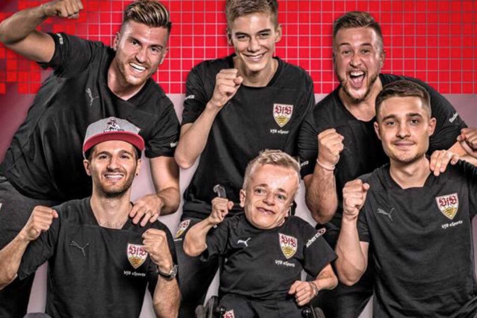 Die gesamte eSports-Mannschaft des VfB Stuttgart.