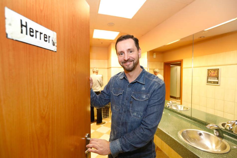 André Donath (52) hätte kein Problem, die Turmbrauhaus-Toiletten für  Passanten zu öffnen.