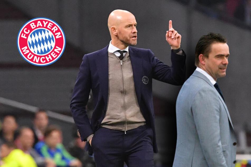 """Ajax-Trainer ten Hag zum FC Bayern? Sportdirektor zeigt sich """"großzügig"""""""