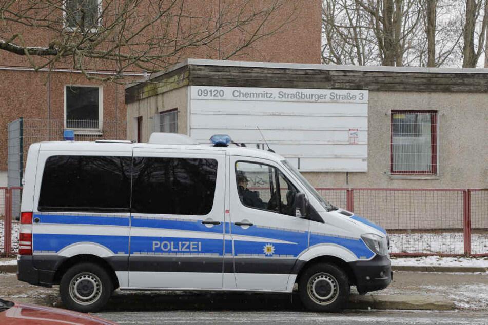 Auch das Heim in der Straßburger Straße in Chemnitz wurde durchsucht.