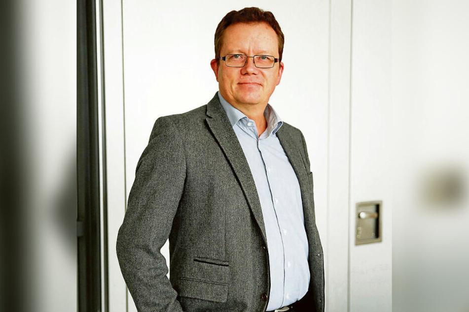 Der Landtagsabgeordnete Gerd Lippold (57, Grüne) ist gegen eine Tagebauerweiterung.