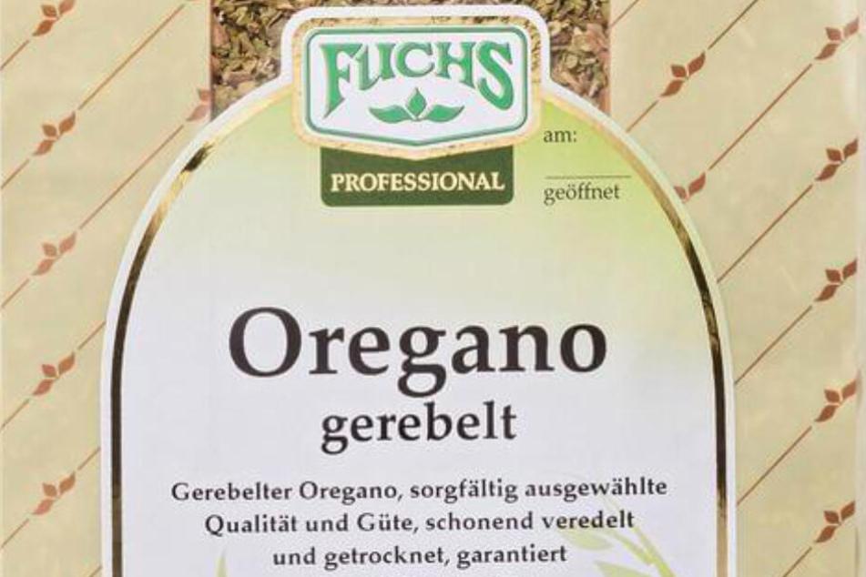 Dieser gerebelte Oregano wird zurückgerufen, er ist in verschiedenen Ausführungen erhältlich.