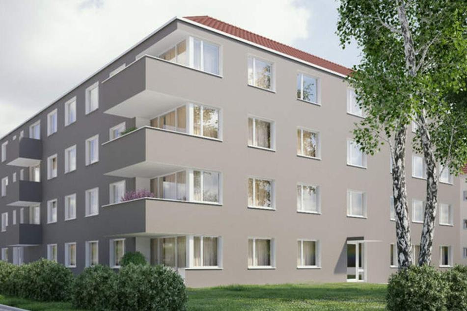 An der Ulmenstraße in Leuben werden im Herbst die ersten 22 WiD-Wohnungen fertig.
