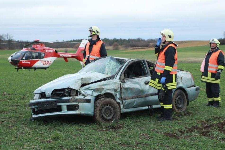 Der Notarzt wurde mit dem Rettungshubschrauber eingeflogen.