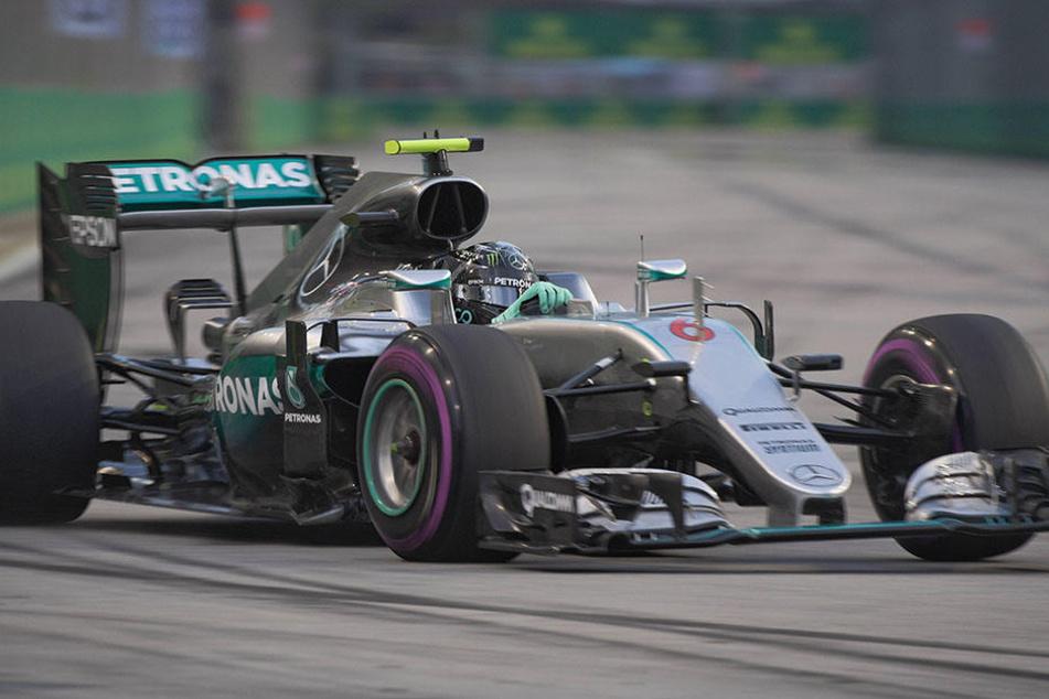Mal wieder der Schnellste: Nico Rosberg in seinem Mercedes.