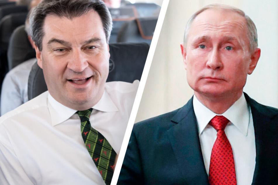 Russland-Trip: Markus Söder reist zu Gespräch mit Präsident Wladimir Putin