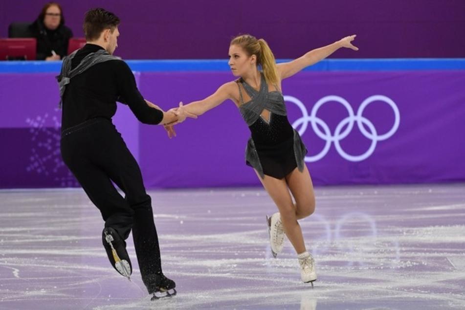 Jekaterina Alexandrowskaja und Harley Windsor am 14. Februar 2018 bei den Olympischen Winterspielen. (Archivbild)