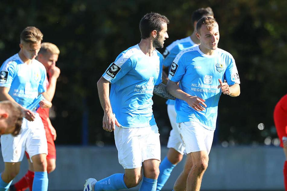 Kurz vor der Halbzeitpause brachte Daniel Bohl den Chemnitzer FC 2:1 in Führung.