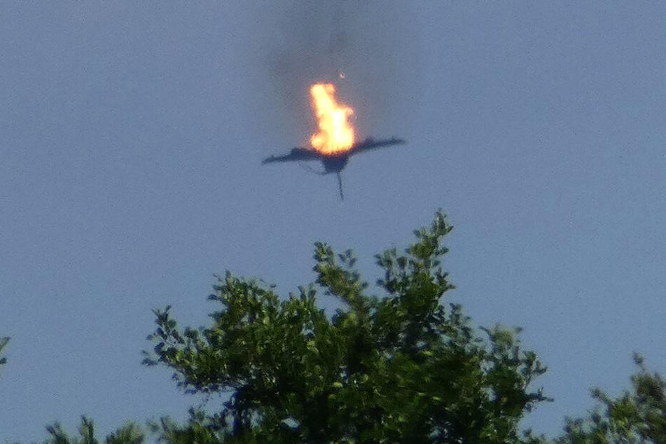"""Die Luftwaffe hat am Montag den Absturz von zwei """"Eurofightern"""" in Mecklenburg-Vorpommern nach einem Zusammenstoß in der Luft bestätigt."""