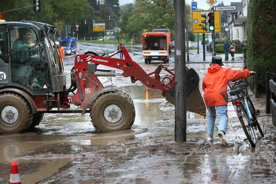 Im Oktober 2009 bildete sich eine Schlammlawine nach Starkregen.