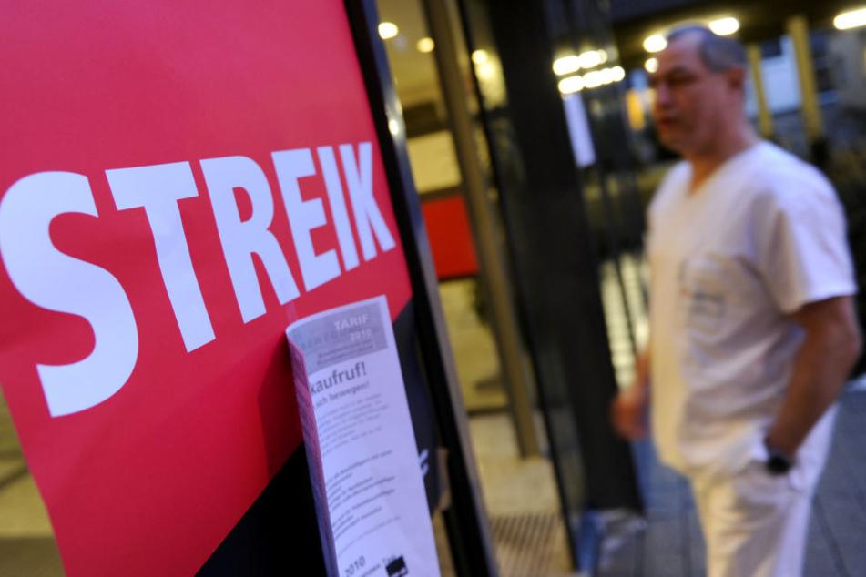 In Frankfurt Höchst und in Gießen streiken mehrere hundert Mitarbeiter.