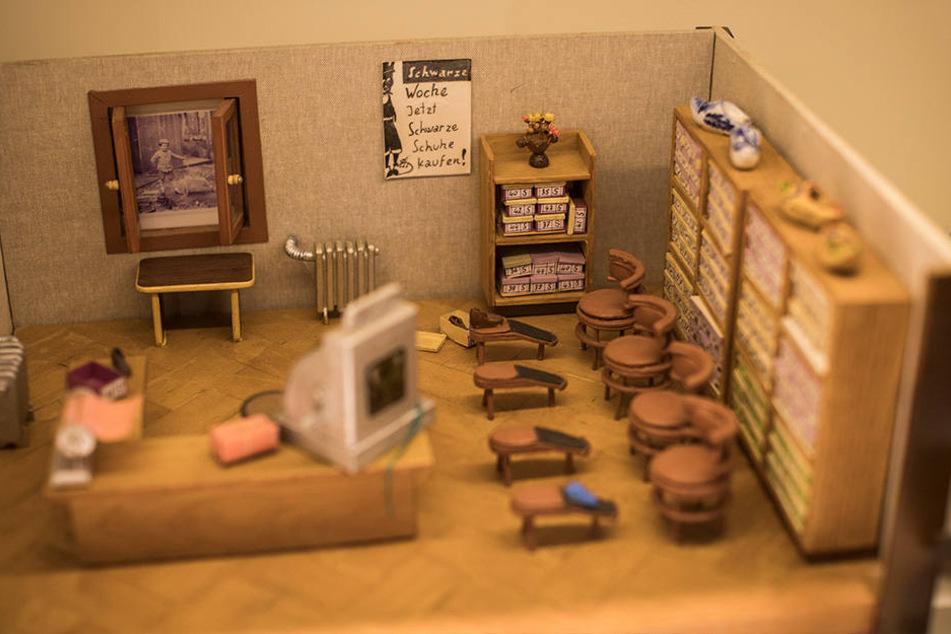 Nachgebaut: So sah es Anfang der 1930er-Jahre im Verkaufsraum des Schuhladens aus.