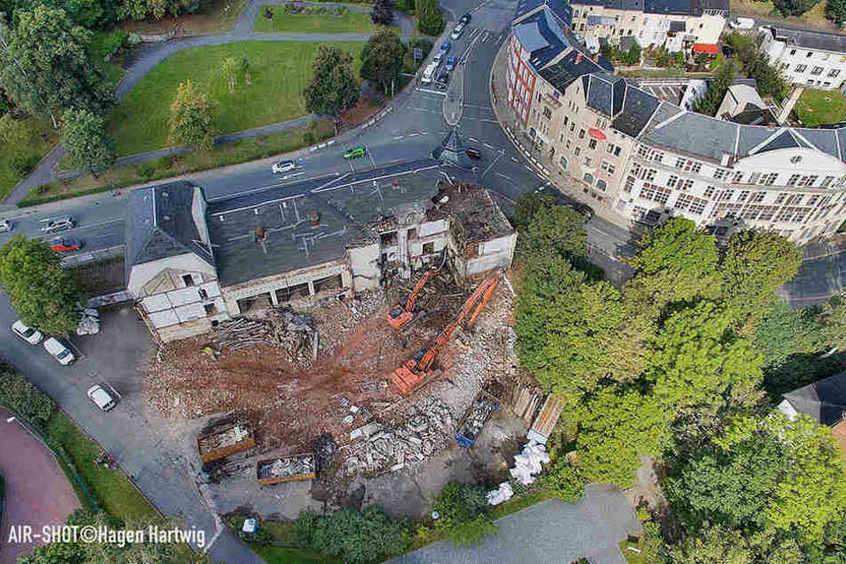 Die Ruine in Auerbach stand seit 1993 leer, wurde letztes Jahr abgerissen.
